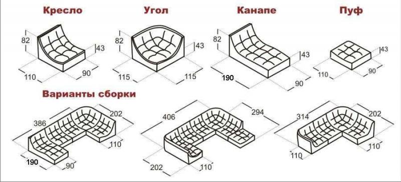 Диван угловой модульный Монреаль (Релакс)