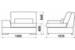 Модуль «Монца»: кресло модель 1, размер: 129*107*84